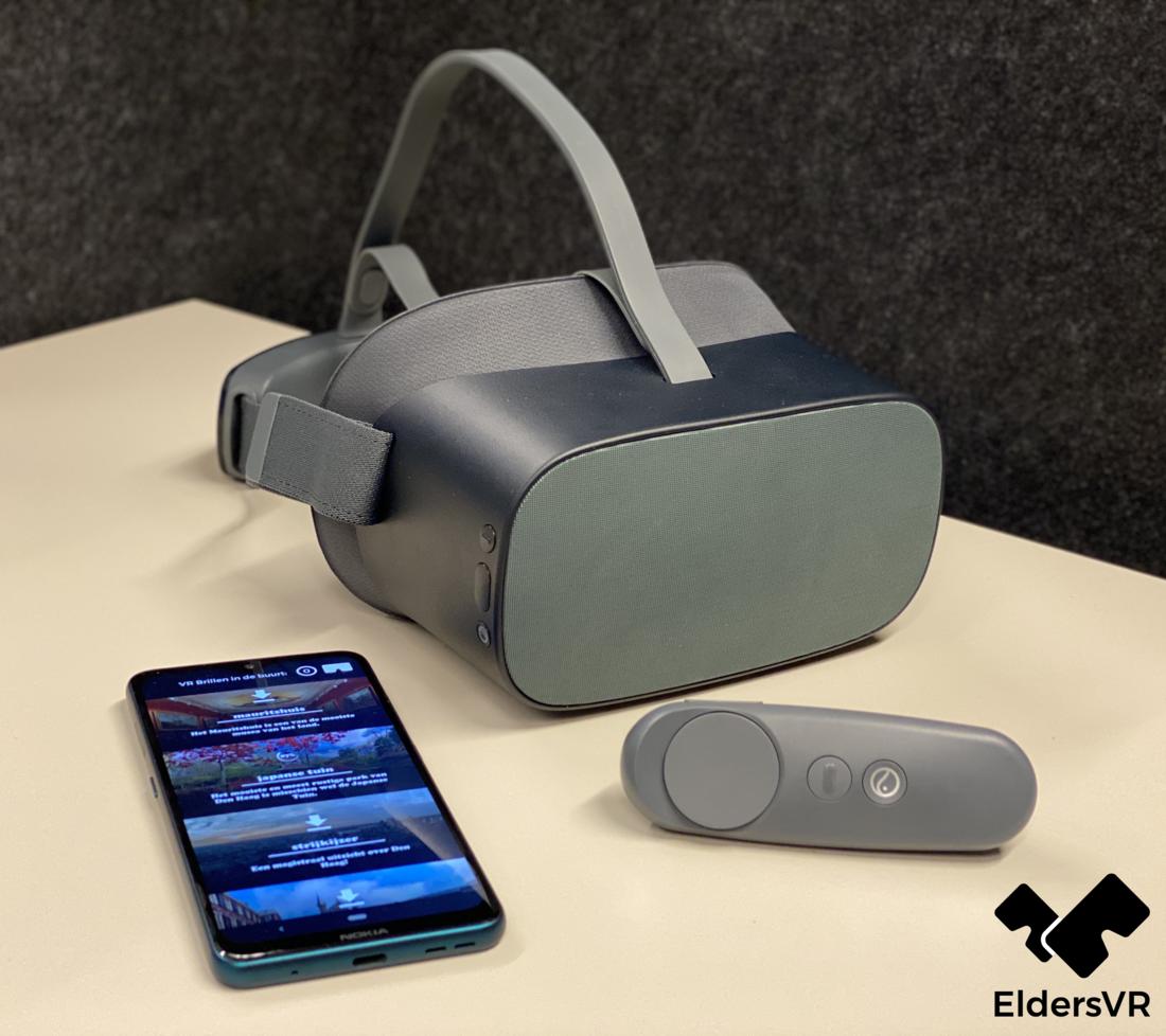 Mobiele telefoon, VR-bril en afstandbediening: de EldersVR-toolkit