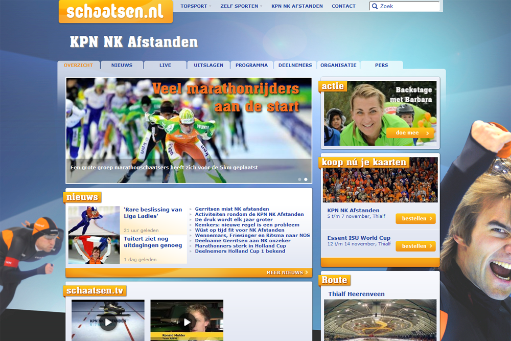 For the love of the sport: schaatsen.nl