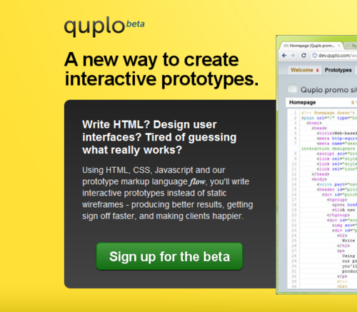 Introducing quplo, our interactive prototyping tool
