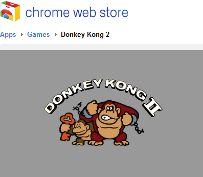 Donkey Kong in de Chrome Web Store