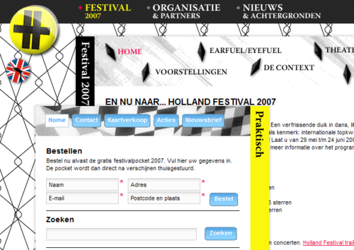Holland Festival redesign